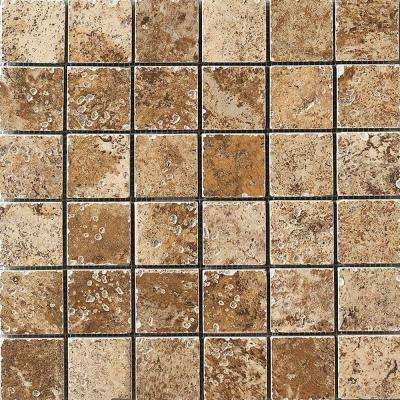 Montagna Belluno 12 in. x 12 in. Porcelain Mosaic Floor and Wall Tile