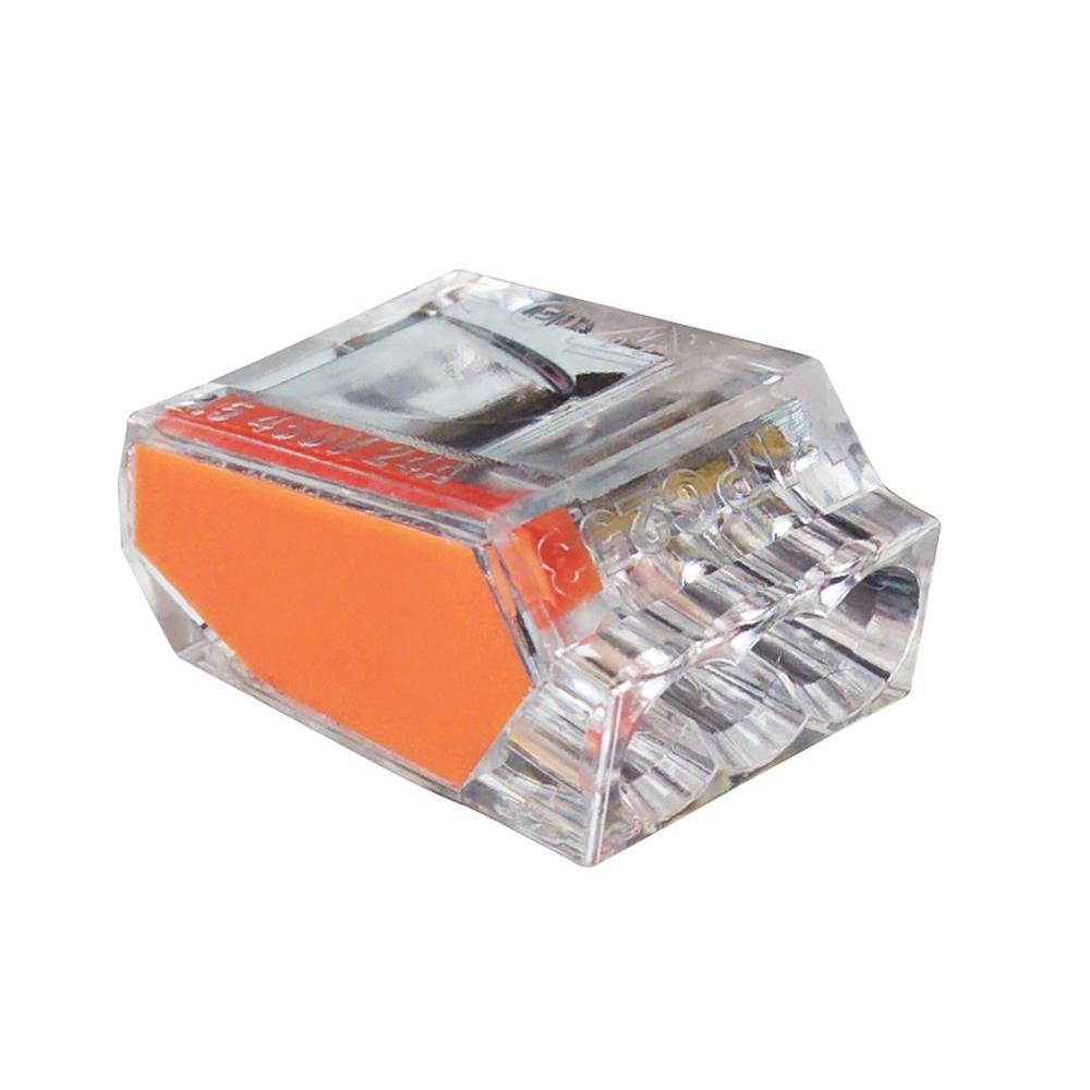 gardner bender pushgard 3 port push in connector orange. Black Bedroom Furniture Sets. Home Design Ideas