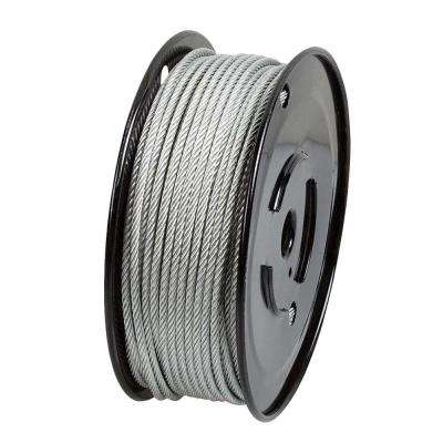 1/8 in. x 500 ft. Galvanized Steel Plated Uncoated Wire Rope
