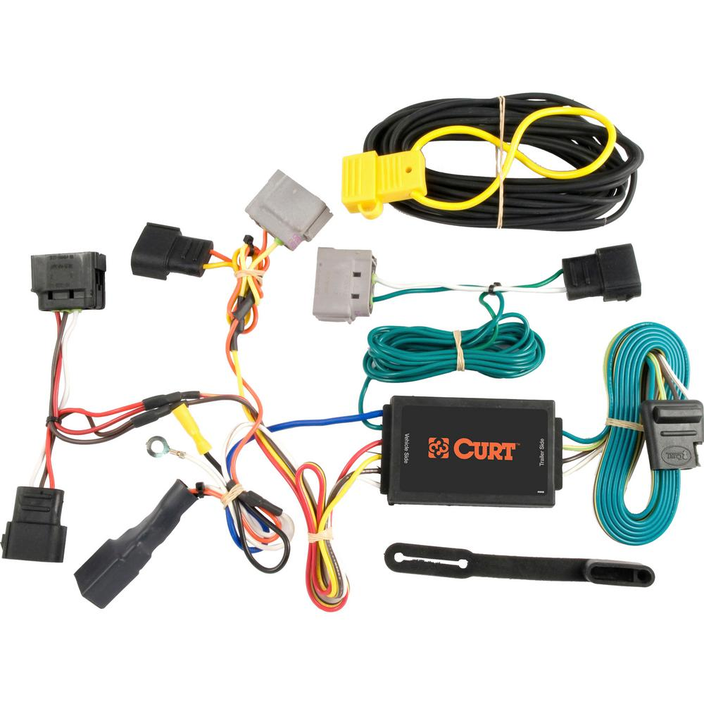 CURT Custom Vehicle-Trailer Wiring Harness, 4-Way Flat, Select Ford  Windstar Built after Nov, 2002, Quick Wire T-Connector-55525 - The Home  DepotThe Home Depot