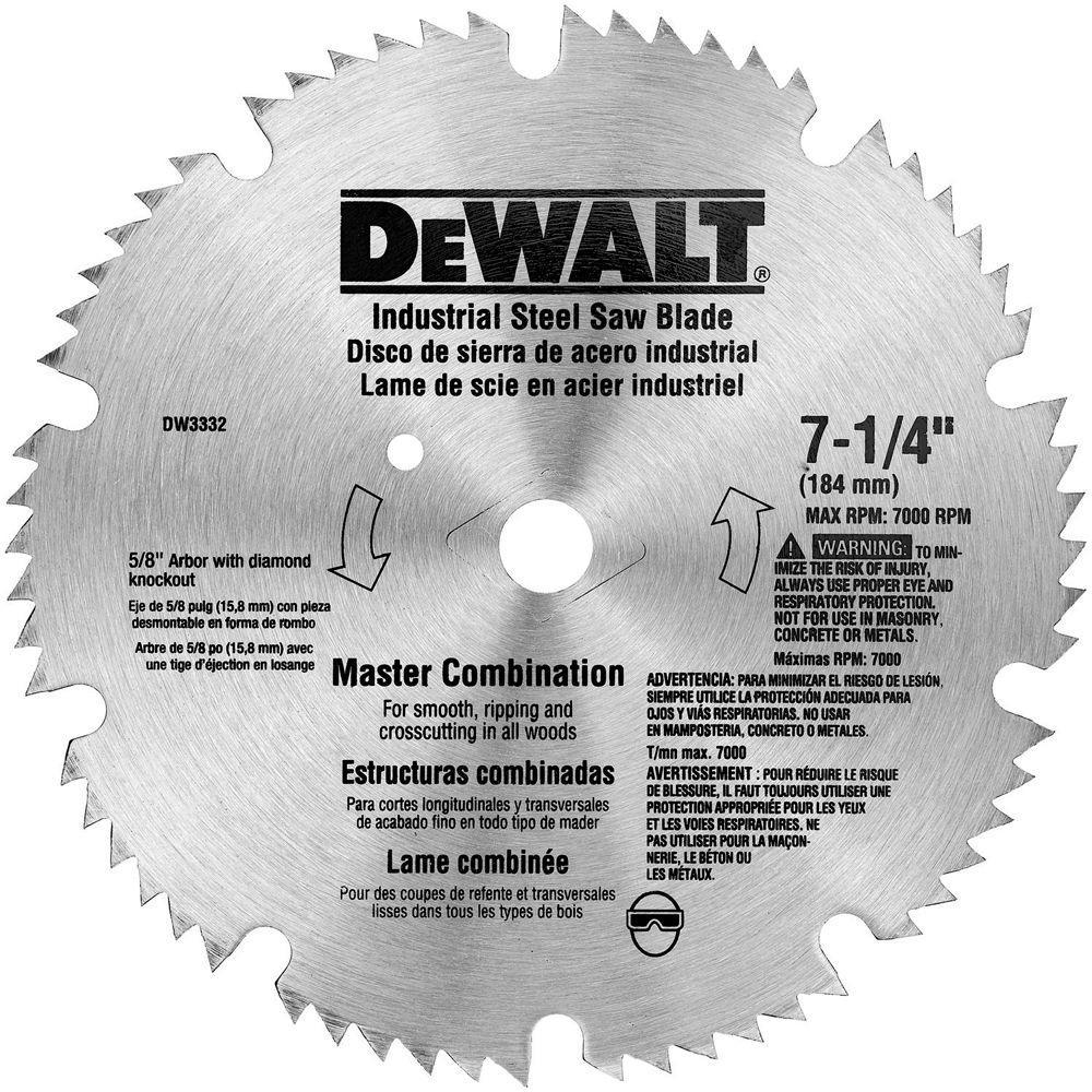 DEWALT 7-1/4 in. 60-Teeth Steel Master Combo Saw Blade