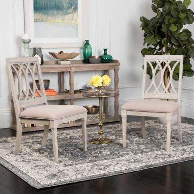 Selena Taupe/Rustic Gray 19 in. H Linen Side Chair (Set of 2)