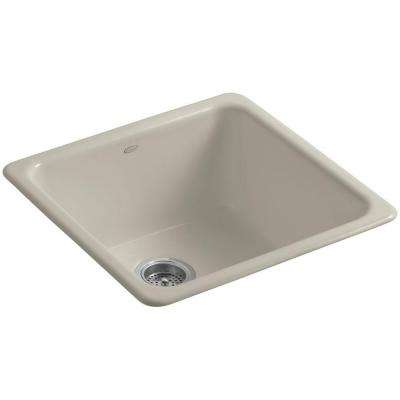 Dual Mount Cast-Iron 21 in. Single Basin Kitchen Sink in Sandbar