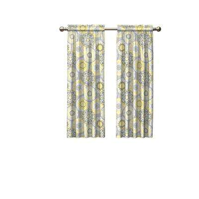 Light Filtering Gray Smooth Poly/Cotton Rod Pocket Curtain