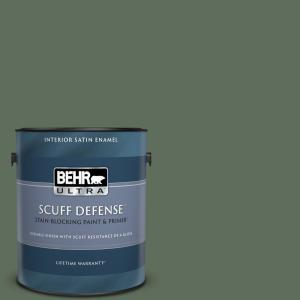 Behr Ultra 1 Gal N400 6 Terrarium Extra Durable Satin Enamel Interior Paint And Primer In One 775301 The Home Depot