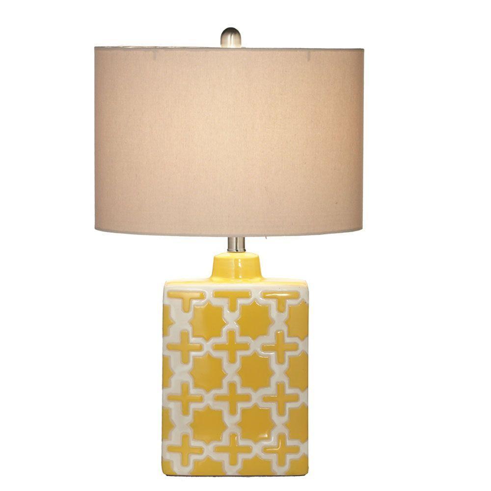 Filament Design Sundry 25.5 in. Yellow Geometric Table Lamp