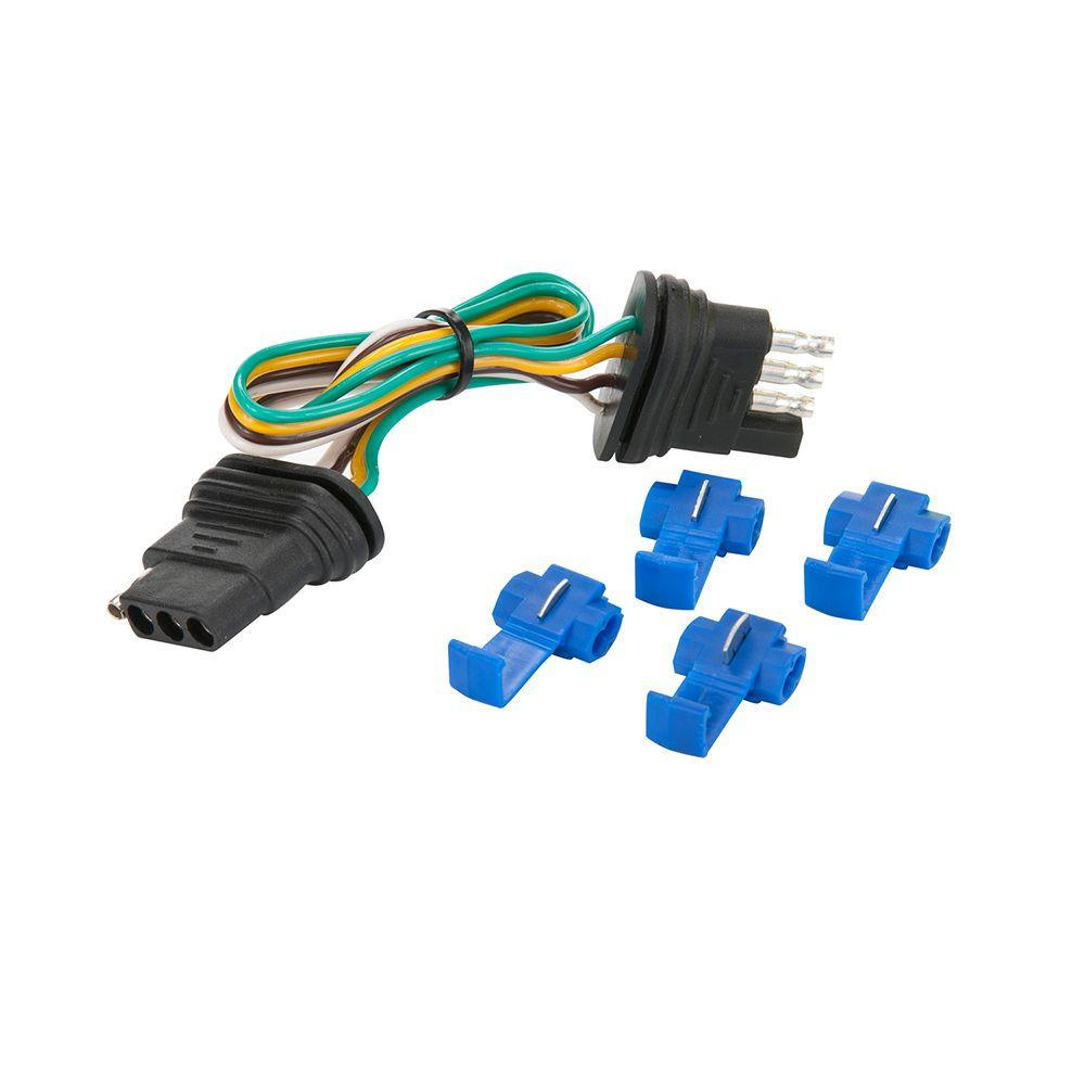 Towsmart 60 In 4 Way Flat Connector 1448 The Home Depot Wiring Splice Connectors With