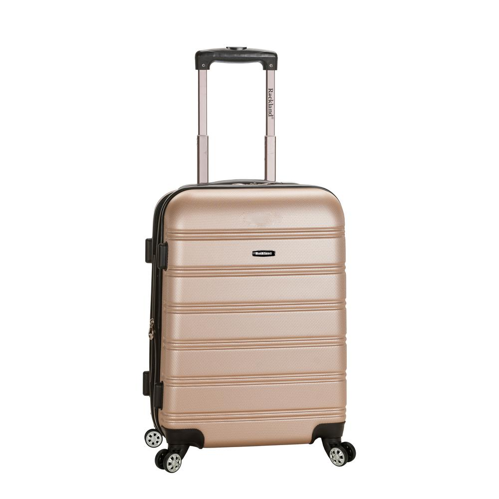 Rockland Melbourne 20 in. Expandable Carry on Hardside Spinner Luggage, Champagne, Beige was $120.0 now $58.8 (51.0% off)