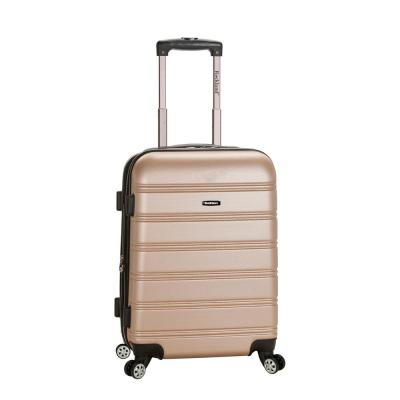 Melbourne 20 in. Expandable Carry on Hardside Spinner Luggage, Champagne