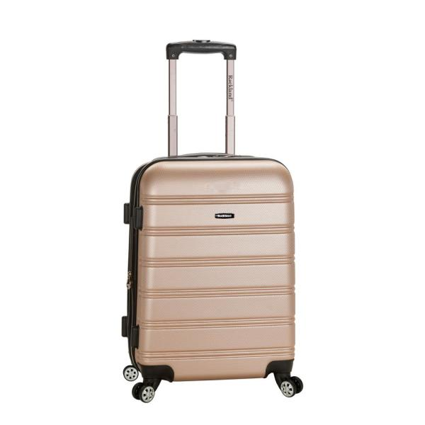 Rockland - Melbourne 20 in. Expandable Carry on Hardside Spinner Luggage, Champagne