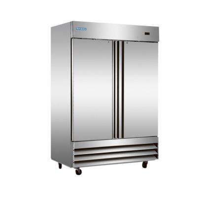 48 cu. ft. 2-Door Commercial Upright Reach-In Freezer in Stainless Steel