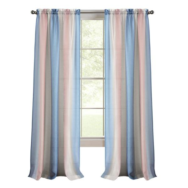 Spectrum 50 in. W x 84 in. L Polyester Light Filtering Window Panel in Rose Quartz/Serenity