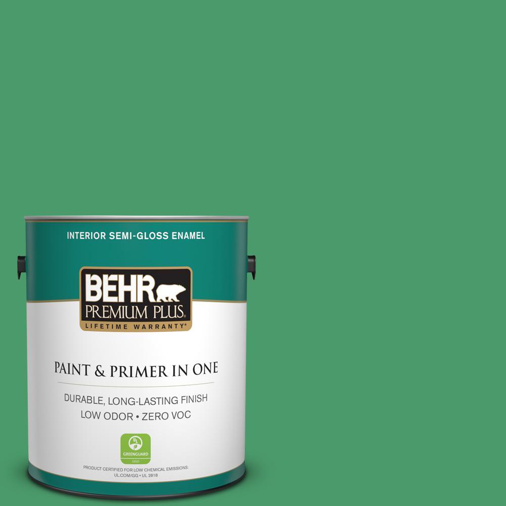 1-gal. #P410-6 Solitary Tree Semi-Gloss Enamel Interior Paint