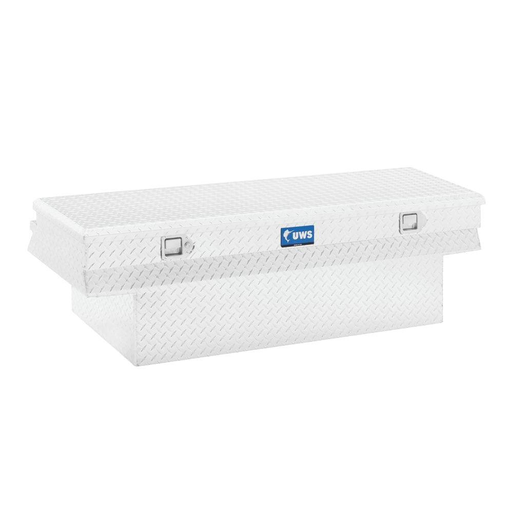60 in. Aluminum Single Lid Crossover Deep Angled Tool Box with