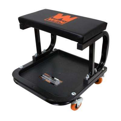250 lb. Capacity Rolling Mechanic Seat with Onboard Storage
