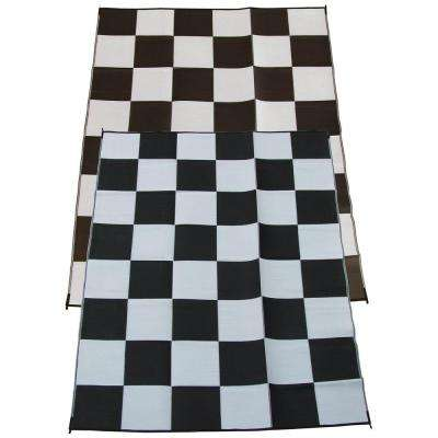 Racing Checks Black And White Checkered Flag 9 Ft. X 12 Ft. Polypropylene  Indoor