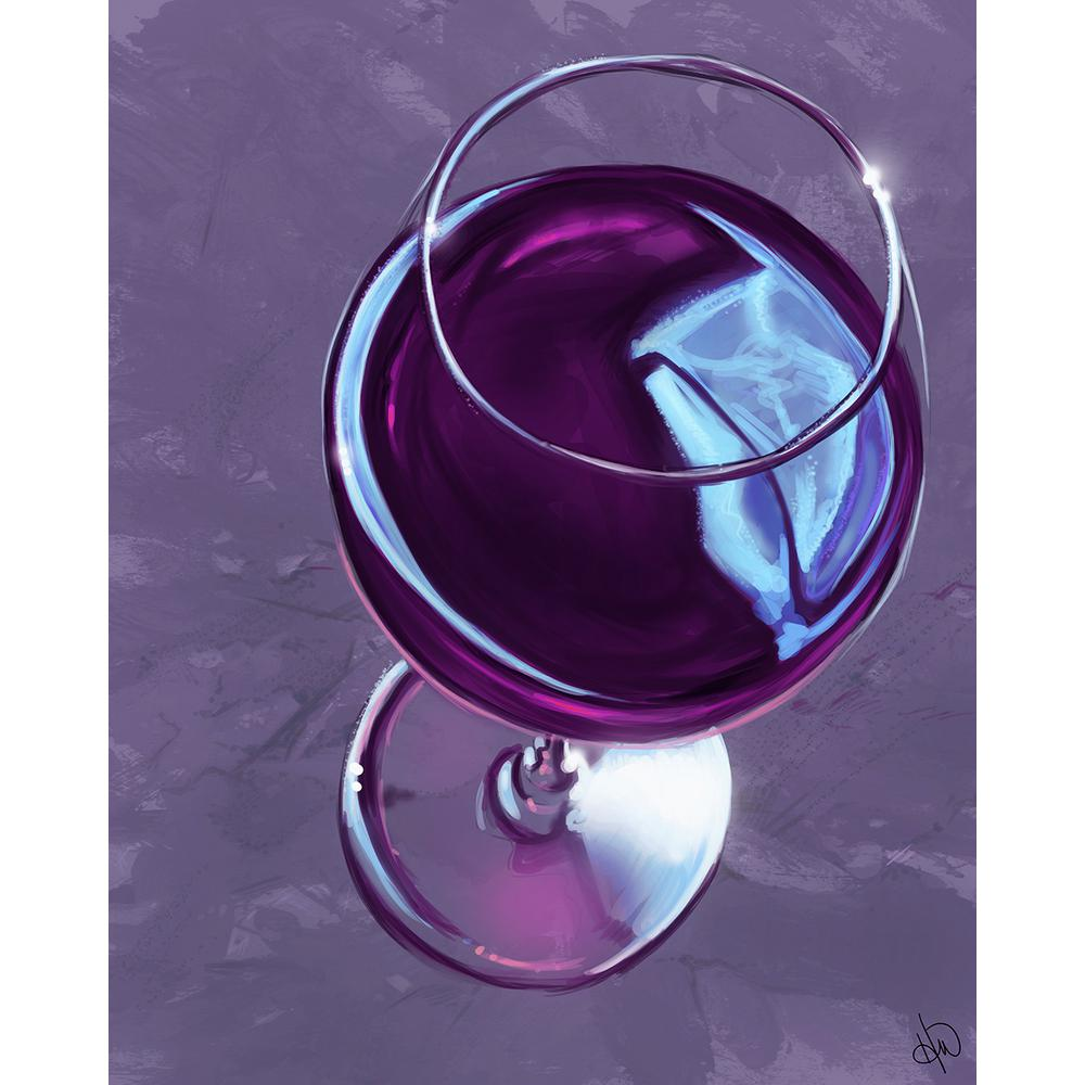 "11 in. x 14 in. ""Iris Wine Glass"" Planked Wood Wall"