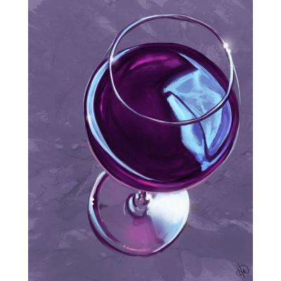 "20 in. x 24 in. ""Iris Wine Glass"" Planked Wood Wall Art Print"