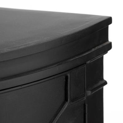Romers II 18L x 38W x 32H Black Wood Four Door Patterned Accent Cabinet