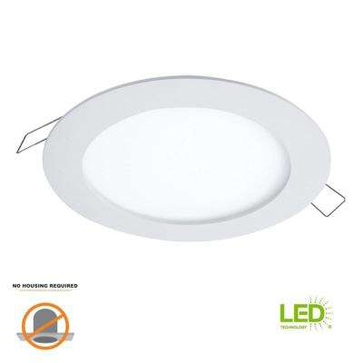 SMD-DM 6 in. 5000K Lens White Round Integrated LED Surface Mount Recessed Remodel Trim Kit