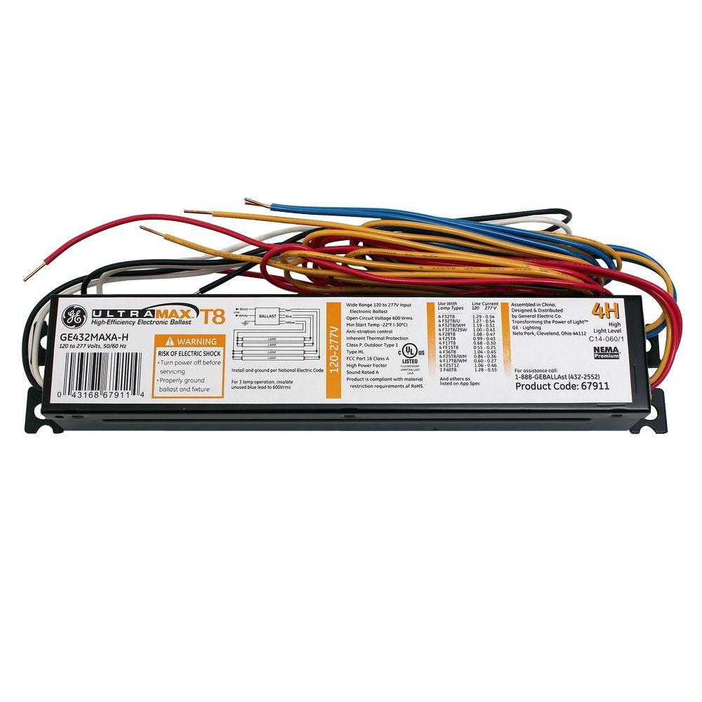 GE 120 To 277-Volt UltraMax Electronic High Ballast Factor