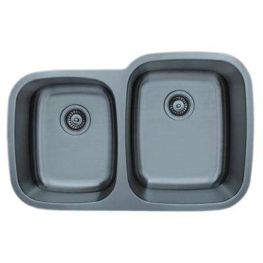 The Craftsmen Series Undermount 32 in. Stainless Steel 40/60 Double Bowl Kitchen Sink