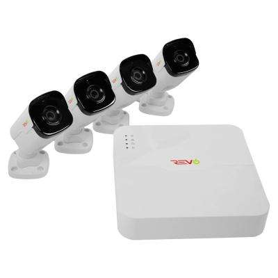 Ultra HD Audio Capable 4-Channel 1TB NVR Surveillance System with Four 4 Megapixel Cameras