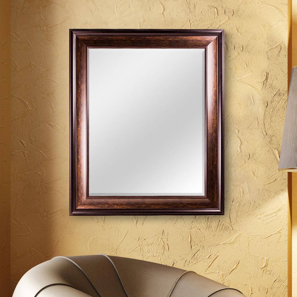Hartley Rectangular Brown Vanity Mirror
