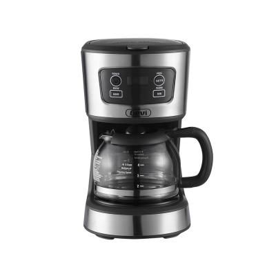 5-Cup Grey Programmable Drip Coffee Maker Machine with Glass Carafe