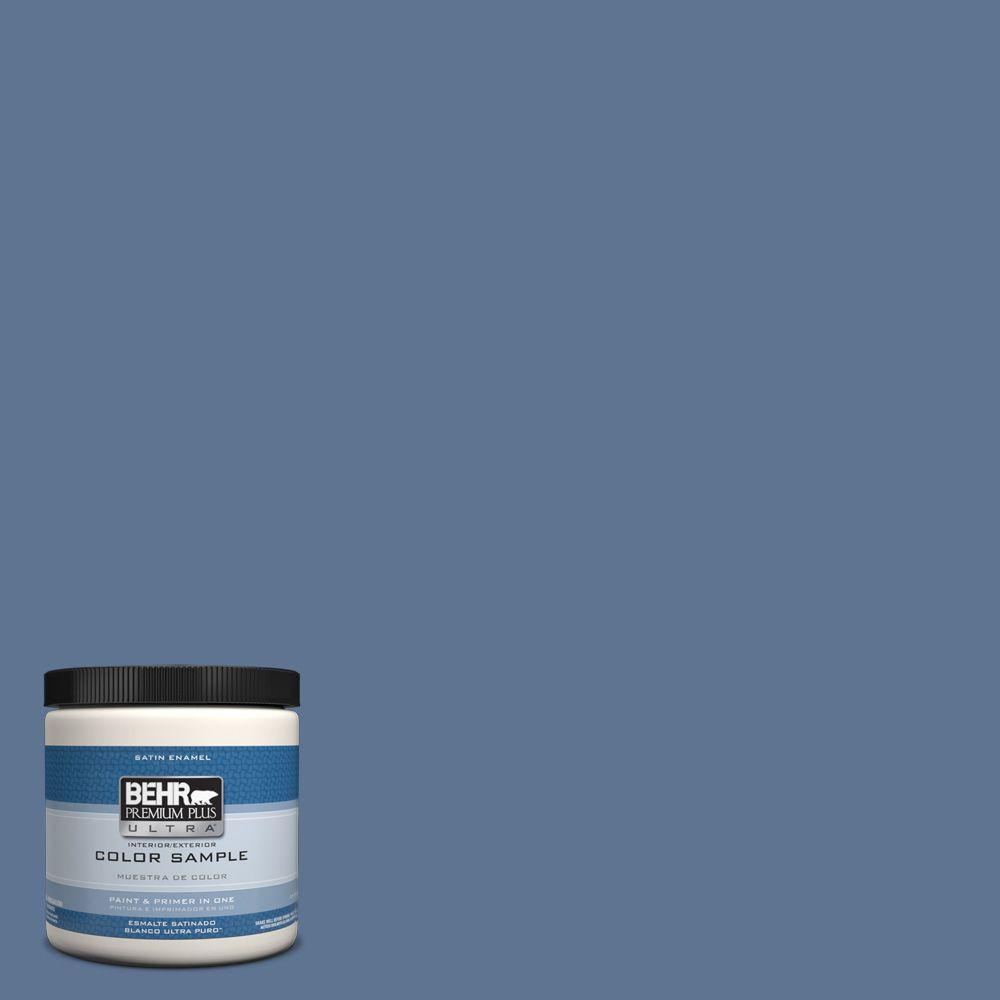 Ppu14 18 Laguna Blue Satin Enamel Interior Exterior Paint And Primer In One Sample