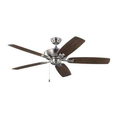 Colony Max 52 in. Indoor/Outdoor Brushed Steel Ceiling Fan