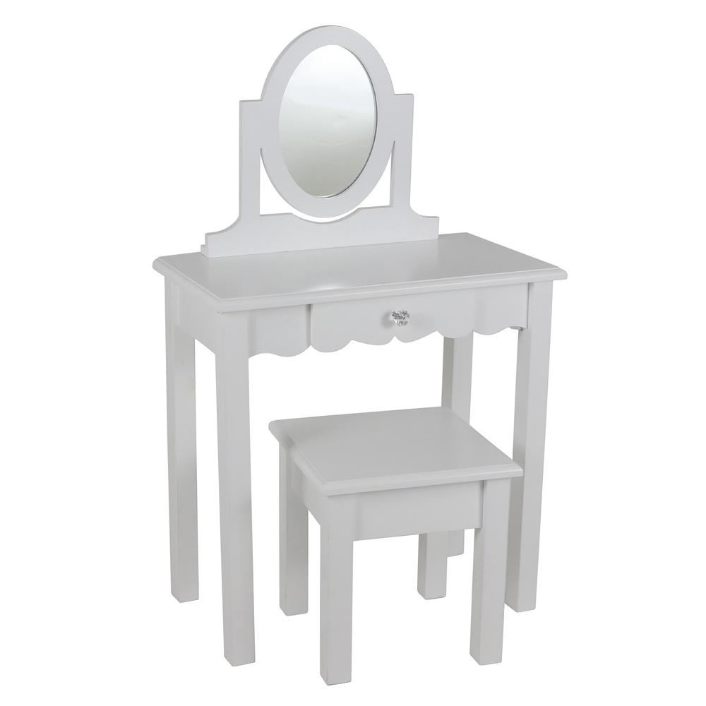 Vivian 2-Piece White Vanity Set