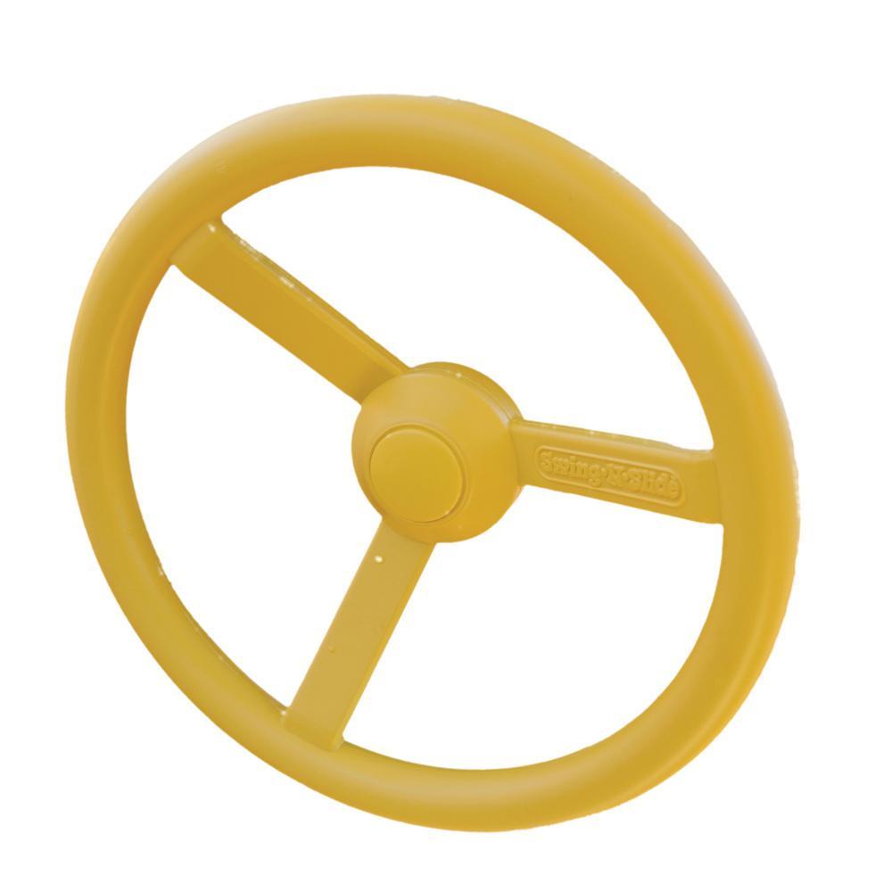 Steering Wheel in Yellow