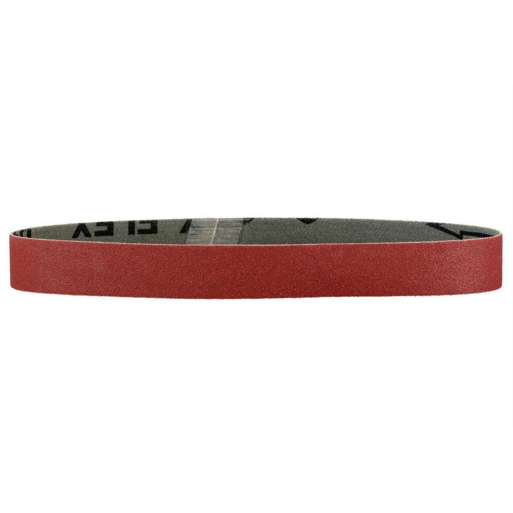 1-1/2 in. x 30 in. 240-Grit Aluminum Oxide Abrasive Belt (10-Pack)