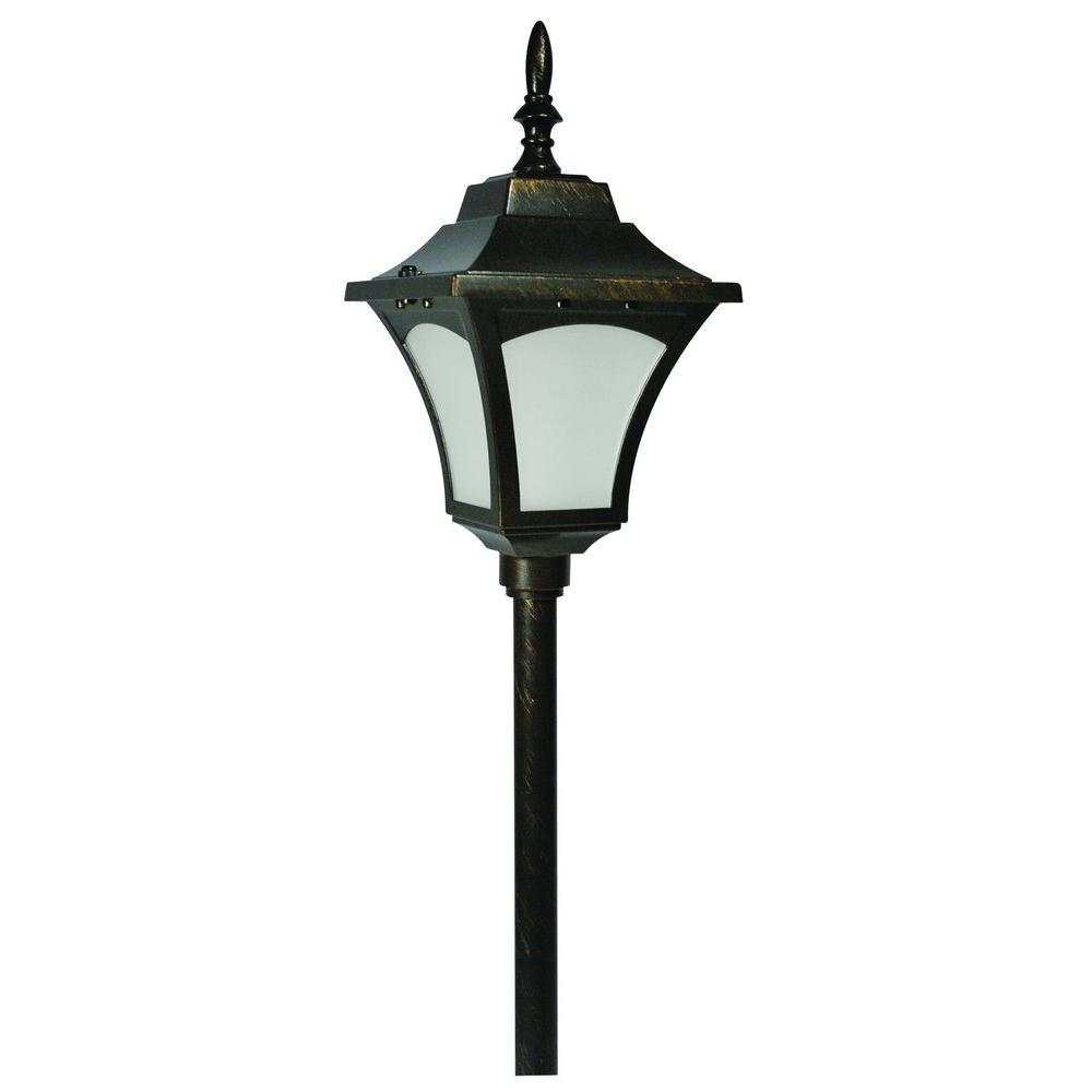Hampton Bay 12V Low Voltage LED 3 Watt Carriage Path Light Rubbed Bronze-DISCONTINUED