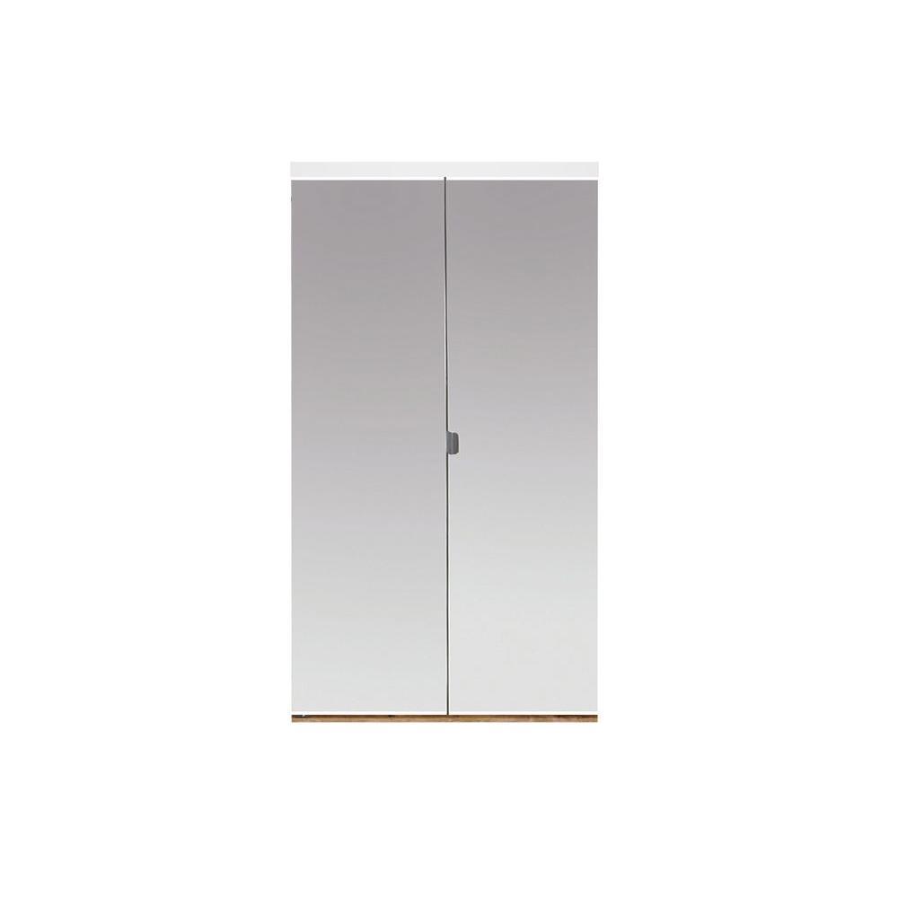 Folding door bathroom - 24 In X 80 In Beveled Edge Mirror Solid Core Mdf