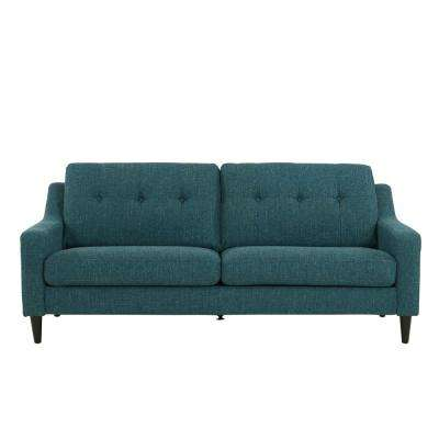 Regina Blue Tweed Scooped Arm SoFast Sofa