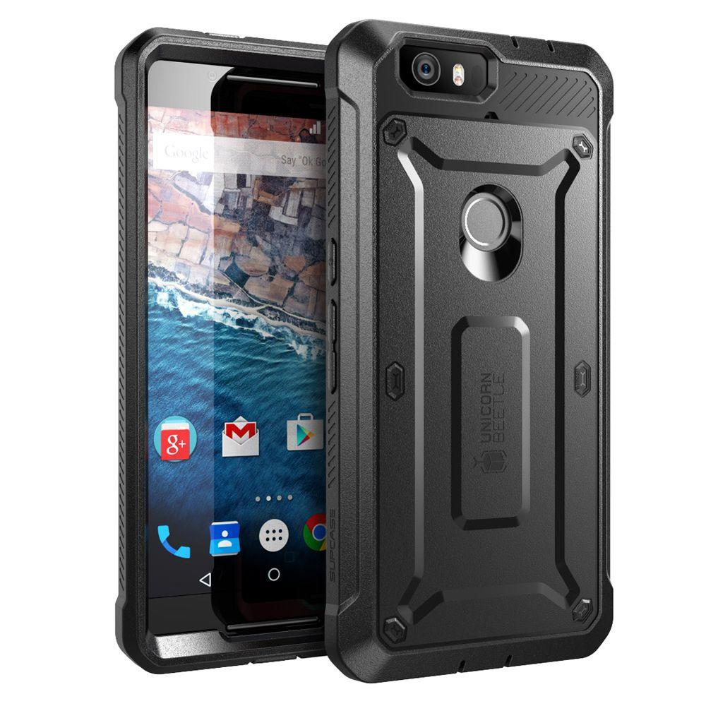 null SUPCASE Unicorn Beetle Pro Full-Body Case for Google Nexus 6, Black/Black