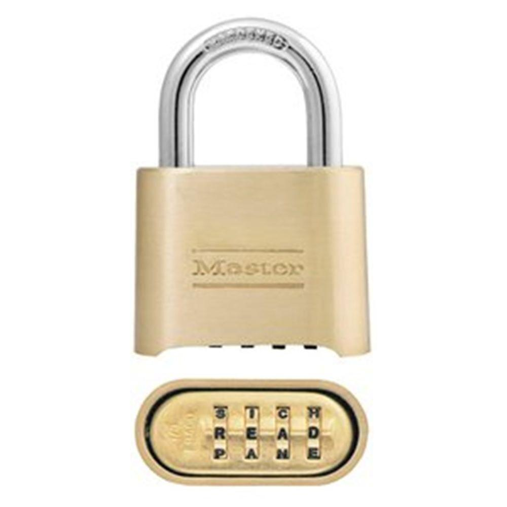 Set Your Own 4 Digit Word Combination Padlock