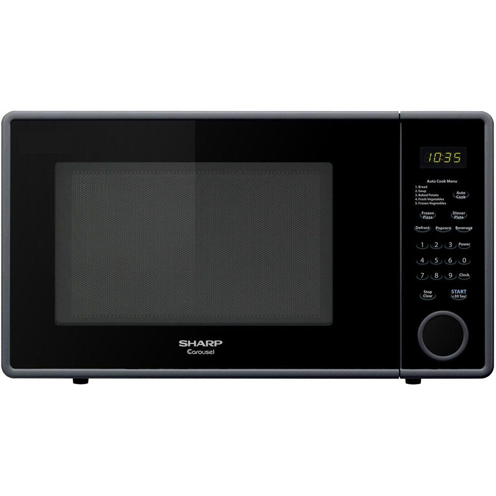 Sharp 1.1 cu. ft. Countertop Microwave in Smooth Black