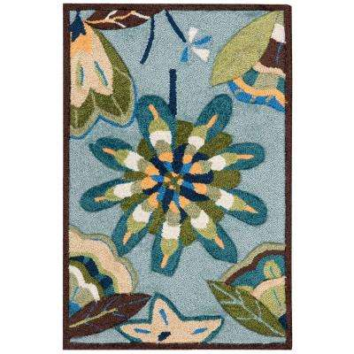 Fantasy Aqua 2 ft. x 3 ft. Area Rug