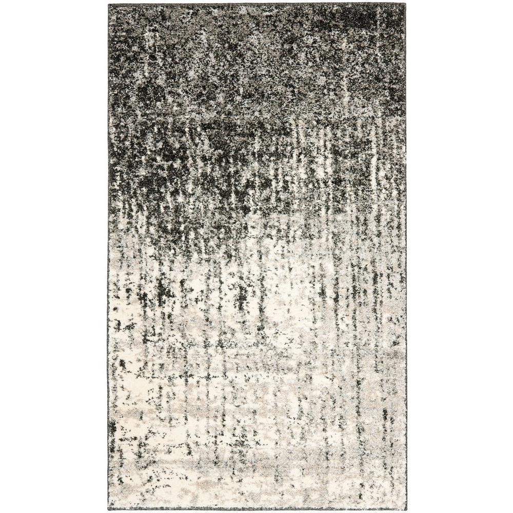 Safavieh Retro Black/Light Grey 3 ft. x 5 ft. Area Rug