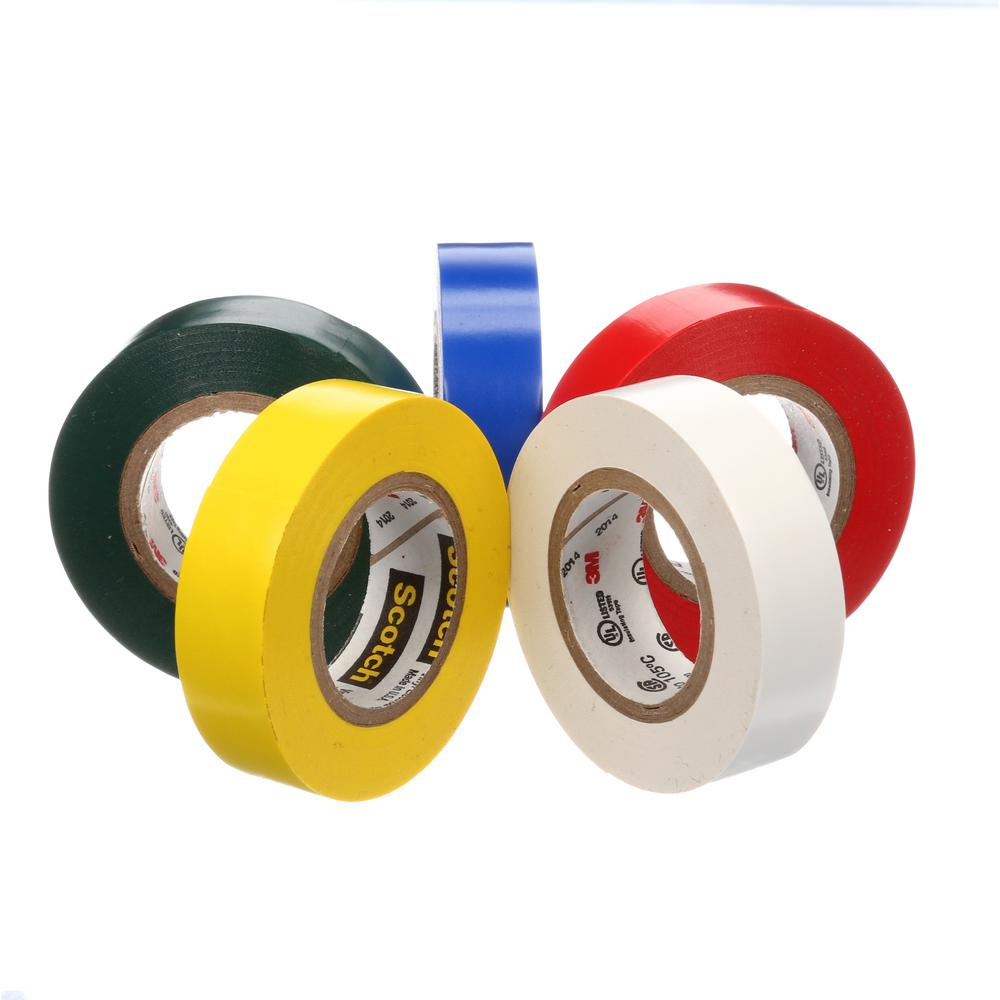 3M Scotch #35 Electrical Tape Flame Retardant 5 Pack 10457DS