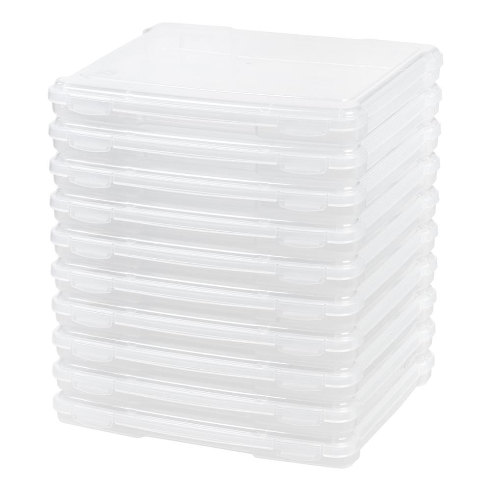 IRIS Slim Portable Project Case in Clear (10-Pack) Keep your projects organized with these slim project cases. On the move or in the office, these cases are ideal for sorting projects by priority or subject. Also use them to safeguard electronics, e-readers, tablets, and charger cords. Color: Clear.