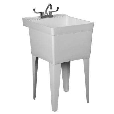 Laundry Bathtub-To-Go 20 in. x 23.875 in. x 33.6875 in. Polyethylene Laundry Bathtub in White