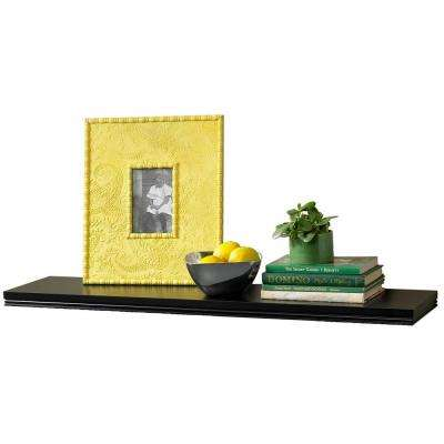 36 in. W x 8 in. D x 1.25 in. H Warwick Black MDF Floating Shelf