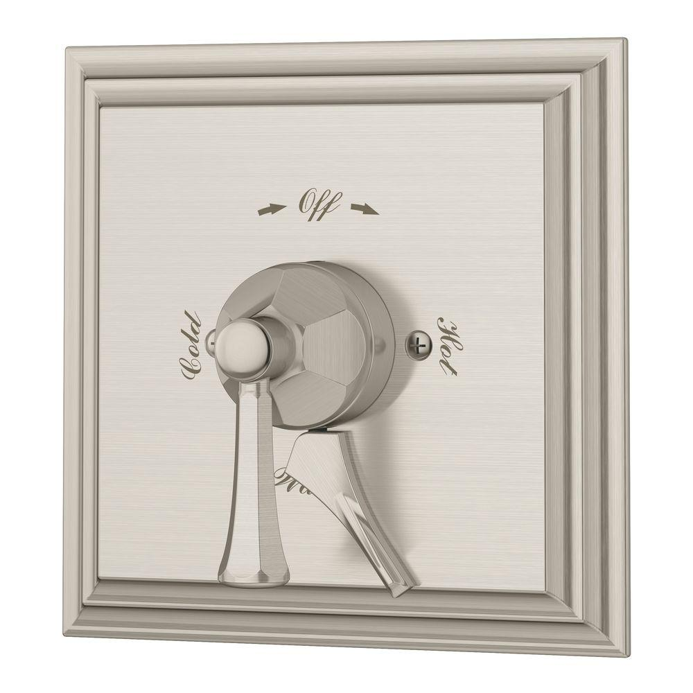 Canterbury 1-Handle Shower Kit in Satin Nickel (Valve Included)