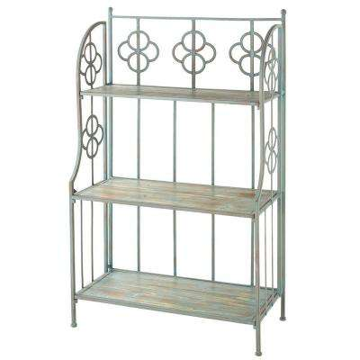 Sundry 3-Tier Potting Shelf in Sage Metal