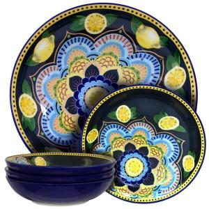 Click here to buy Elama Luna Di Limon Assorted Pasta Serving Bowl (Set of 5) by Elama.