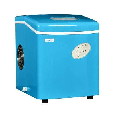 28 lb. Freestanding Ice Maker in Blue